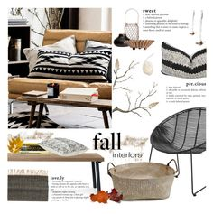 """This Fall"" by fyenksfiona ❤ liked on Polyvore featuring interior, interiors, interior design, home, home decor, interior decorating, Bloomingville, H&M, Blu Dot and Table Art"
