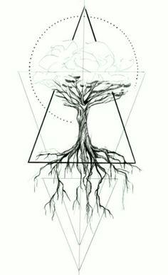 2017 trend Geometric Tattoo - tree, geometric tattoo designs ideas männer männer ideen old school quotes sketches Tattoo Life, Arm Tattoo, Body Art Tattoos, Tatoos, Female Tattoos, Stomach Tattoos, Neck Tattoos, Geometric Tattoo Tree, Geometric Trees