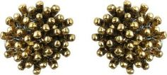 Waama Jewels Elegant Pair Of Charming Gold Color Studs Daily Wear Valentine's Day Special Brass Stud Earring