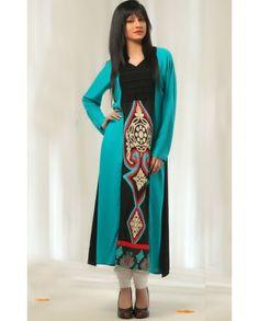 I LUV Designer - 2 Piece Designer Pakistani Casual Wear Dress with White Leggings for £25 - Pakistani Dresses Latest Fashion