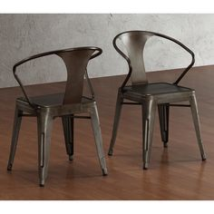 Buy Tabouret Stacking Chair (Set of This Set Of Dining Room Chairs Is Perfect For Adding A Vintage Look To Your Home. Crafted With A Solid Steel Construction And Coated With A Scratch-Resistant Finish These Chairs Will Last In Quality In Style. Dining Chair Set, Dining Room Chairs, Dining Room Furniture, Furniture Sets, Kitchen Chairs, Furniture Vintage, Patio Kitchen, Staging Furniture, Loft Furniture