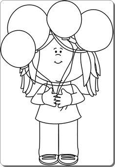 * Ballonnen.... Coloring Sheets, Colouring, Coloring Pages, Cute Cartoon, School Stuff, Glass Art, Clip Art, Printables, Seasons