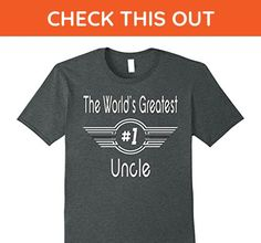 Mens World's Greatest Uncle T-shirts - World's Best Uncle Gifts 2XL Dark Heather - Relatives and family shirts (*Amazon Partner-Link)