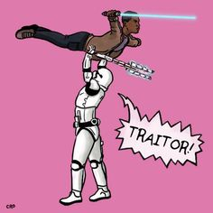 "Finn and the stormtrooper that says, ""Traitor!"" ballroom dancing - why not?"