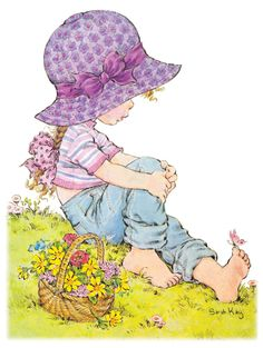 Rea May hat hier gepinnt: Geschenke & Karten sarah kay Sarah Key, Holly Hobbie, Mary May, Decoupage, Cute Images, Illustrations, Cute Illustration, Cute Drawings, Cute Art