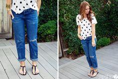 3 ways to wear boyfriend jeans | How Does She...