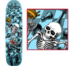 This is a Rodney Mullen freestyle skateboard cira 1985. This will be on my  left 77c6bea851f