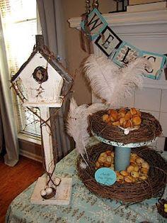 bird nest dessert stand