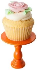 Orange Mini Wooden Cupcake Stand