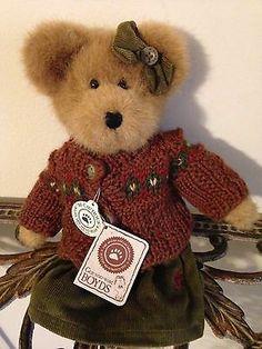 "BOYDS "" Maple T. Leafowitz "" ~ 10.5""Adorable Autumn Beanbag Teddy Bear ~ NWT"