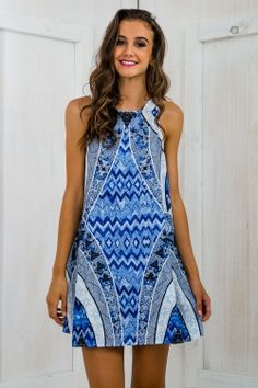 Cacaos Island Swing Dress - Blue Print : I'm now obsessed with Stelly's clothes AHHHH