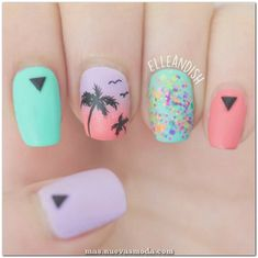 Palm tree design on toes palm tree nail design tutorial summer nail art my oh palm . palm tree design on toes palm tree nails Tropical Nail Designs, White Nail Designs, Toe Nail Designs, Pink Summer Nails, Chic Nail Art, Palm Tree Nails, Manicure, Nail Design Video, Beach Nails