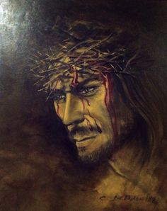 "50x60  olio  su  tela ""Cristo"""