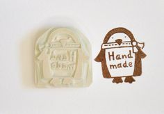 Hand Carved Rubber Stamp / Handmade by pinkprairies on Etsy, $12.00