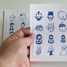 The Sticker Square Sheets by thesmallobject on Etsy