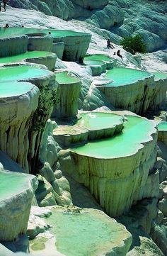 Piscinas de roca natural, Pammukale ,Turquía.