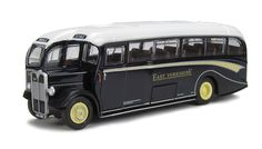 AEC Duple Coach Diecast Model Bus by EFE 25306 This AEC Duple Coach Diecast Model Bus is Blue and White and features working wheels. It is made by EFE and is 1:76 scale (approx. 12cm / 4.7in long).  #EFE #ModelBus #AEC
