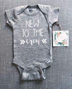 Excited to share this item from my shop: New to the Crew Onesie® Custom Baby Onesies, Newborn Onesies, Diy Baby Boy Onesies, Baby Boy Shirts, Baby Boys, Dad Onesie, Baby Boy Outfits, Sailor Outfits, Funny Babies