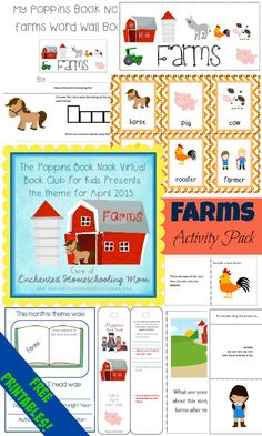 Free Farm Themed Activity Pack