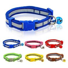 Reflective Small Nylon Collar with Bell For Chihuahua