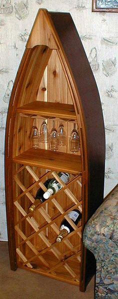 cool idea for a cottage or rustic retreat - of course I would need a few more of them (like 3 in total) and would     bably painted like old row boats  (green, blue, red)       This would look perfect in my cabin!!!! I love it!