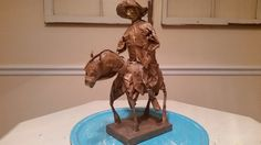 Vintage Paper Mache Don Quixote and by sistersvintageattic on Etsy