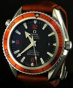 Excellent Priced #Omega Seamaster Planet Ocean Professional SS automatic orange men's #Watch