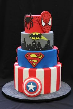 Birthday Cake Boys Avengers Avenger Party 57 Ideas Best Picture For Birthday Cake decorating For Your Taste You are looking for something, and it is going to tell you exactly what you are looking for, Avengers Birthday Cakes, 5th Birthday Cake, Superman Birthday, Superhero Birthday Cake, Birthday Cakes For Boys, Batman Party, Birthday Games, Rainbow Birthday, Birthday Favors