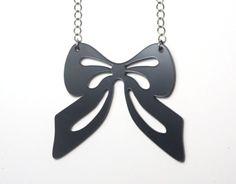 plexiglass bow necklace