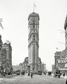 Manhattan circa 1908 - glass negative via Detroit Publishing Co.