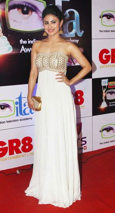 Mouni Roy at the 14th Indian Television Academy Awards 2014.