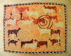 Antelopes San Art - Acrylic Painting Artwork by Hadeda on Etsy Sans Art, Rugs, Unique Jewelry, Handmade Gifts, Artwork, Painting, Etsy, Vintage, Decor