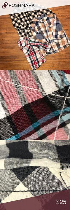 Boys 12M Plaid & Buffalo Checker Bundle EUC H&M, Cherokee, & wonderkids button down bundle! H&M Shirts & Tops Button Down Shirts