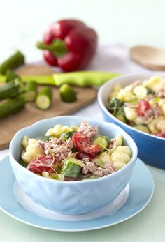 Tuna & Ratatouille Pasta: so quick and easy to make with #Knorr's Tuna Mate Cheddar-Melt