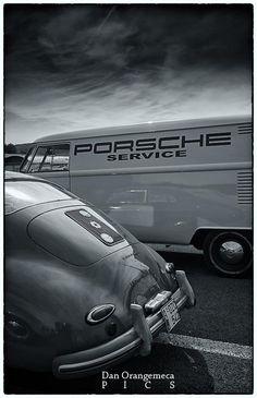 Porsche 356 and VW T1 #porsche