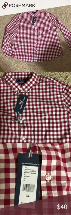 NWT Vineyard Vines Mens Button Up - Size XL NWT Vineyard Vines Mens Button Up Beet Red - Color Size XL Vineyard Vines Shirts Casual Button Down Shirts