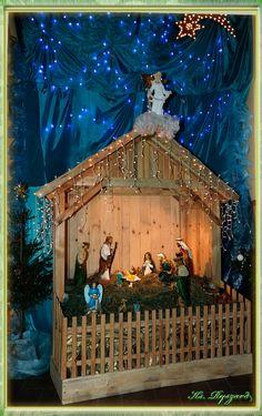 Church Christmas Decorations, Christmas Village Display, Christmas Nativity Scene, Christmas Wood, Christmas Crafts, Crafts With Glass Jars, Jar Crafts, Diy Nativity, Christmas Wine Bottles
