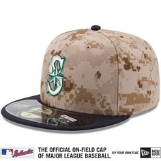 The #Mariners will take the field wearing these USMC desert digital camo #NewEra caps on Memorial Day. Get yours at any Mariners Team Store or Mariners.com. Proceeds benefit the Welcome Back Veterans Fund. #Padgram