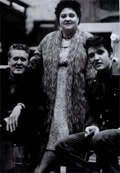Elvis with his mother and father on the set of Elvis second movie  Loving you february / march 1957.