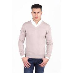 Versace 19.69 Abbigliamento Sportivo Milano mens V neck sweater 9801 SCOLLO V SABBIA