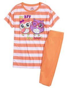 Owl Capri Legging Pajama Set
