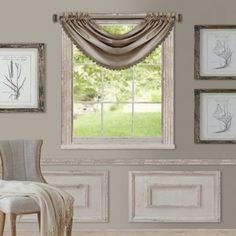 Bring classic style to your windows with the All Seasons Window Curtain Panel and Valance. Boasting a substantial drape, this curtain panel and valance is the perfect way to tie together your living room or bedroom decor. Grommet Curtains, Drapes Curtains, Curtains For Wide Windows, Cream Curtains, Curtains Living, Bedroom Windows, Kitchen Curtains, Drapery, Rideaux Design