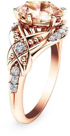 #morganite #diamondrings #engagementrings #rosegoldrings