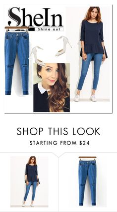 """""""shein"""" by feather-fashion ❤ liked on Polyvore featuring Jimmy Choo"""