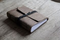 Leather journal, leather notebook, travel journal, travel notebook, leather diary, hand bound blank book leaf closure christmas golden brown on Etsy, $18.39