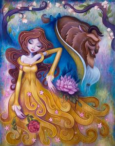 Gentle Companion, Acrylic on Wood, 24 x 30 inches. Jeremiah Ketner, 2012 ©Disney