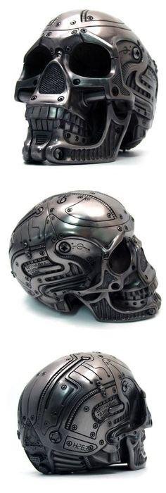 Cyborg metallic skull. Was sold a few years ago on a Korean website. More