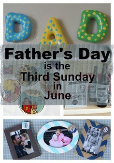 Father's Day is the Third Sunday in June - Obscure Holiday Crafts Obscure Holidays, Father Sday, Fathers Day Crafts, Breakfast In Bed, Time To Celebrate, Holiday Crafts, Third, Gift Ideas, Creative