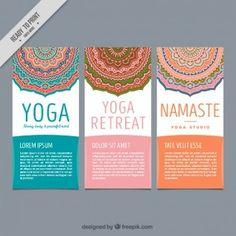 volantes lindo de yoga con mandalas decorativos