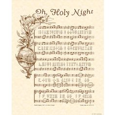 OH HOLY NIGHT...I love this song.  It's one of those songs that causes my voice to catch when I sing it.  It truly moves me.
